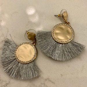 Fanned fringed earrings by Loft